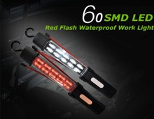 New lamp ! 60SMD IP66 Magnetic waterproof protable rechargeable high quality red flash led light autozone