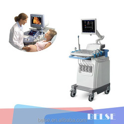 3D Color doppler ultrasound machines with trolley doppler for hospital use