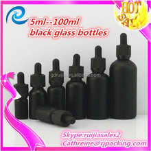 matte eliquid 30ml black glass bottle factory