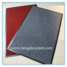 Household pvc red grey double stripe carpet import doormat waterproof slip-resistant mats pad