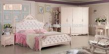 de color rosa blanco tapizado cama de almacenamiento