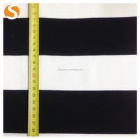 Black and White Stripe Plain dyed TR Jacquard fabric for garment