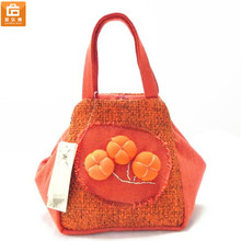 Linen Purse Bag Handmade Women Purse Bag