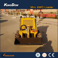 Hot mini skid steer loader on sale,small wheel loader with 23HP power