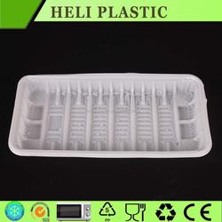 Disposable plastic rectangular fresh fruit /cherry tomato packaging plates