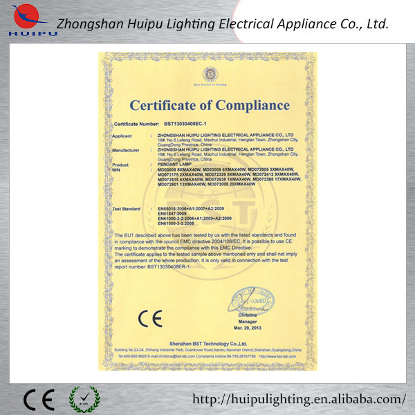 EMC Pendant Light certification.jpg