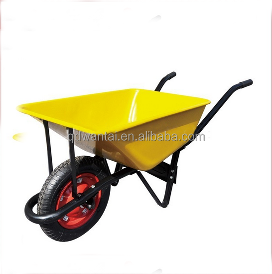 China supplier pneumatic rubber wheel electric garden cart for Motorized wheelbarrows for sale
