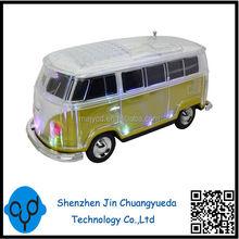 Super bass VW Bus Shape Car Radio Speaker USB Card Sound Box Mini Gift Speaker