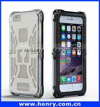 Aluminum Shockproof waterproof case for iphone 6, cell phone case waterproof