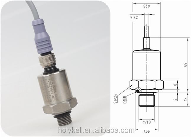 2mv/v 3mv/v 3.33mv/v strain gauge pressure transducer