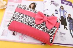 Zipper PU lady purse wallet pouch
