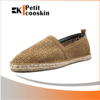Summer casual flax sole fashion slip on loafer men fancy shoes
