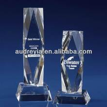 corporate crystal trophy with cut diamond design wholesale