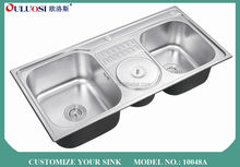 top level 2015 modern style short-time delivery installing a stainless steel kitchen sink 10048A