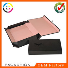 Special design gift paper packaging box with folded design magnet closure