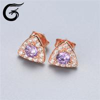 GuoLong wholesale silver jewelry earrings silver 925 cz jewelry
