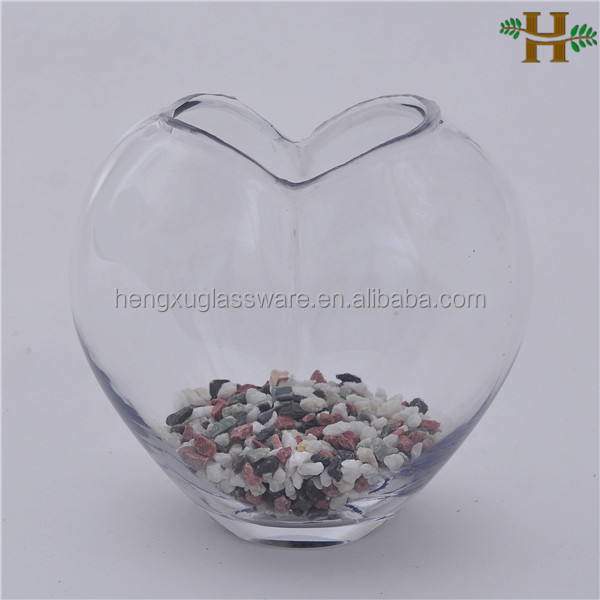 Wholesale Hand Blown Heart Shaped Clear Glass Vases - Buy