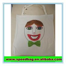 100% cotton custom print blank canvas tote bag