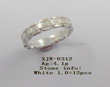 Costume fashion white Zircon rings new fashion design hot rings