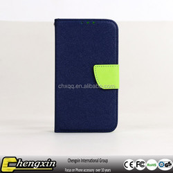 Chengxin universal contrast color leather 4 inch wallet phone case factory sale in stock
