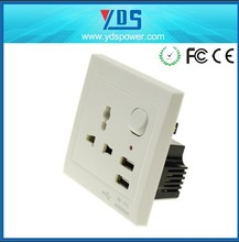 Multi Socket Wall Sockets with USB port plate five holes charger for mobilephone laptop tablet PDA PSP in global