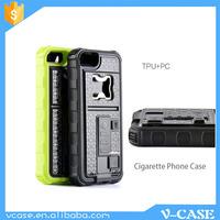 Personalized cigarette cases / handmade crashproof cigarette lighter phone case with beer opener
