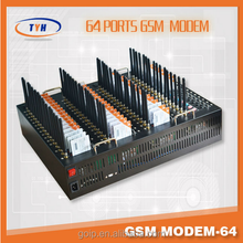 64 port gsm modem with external antenna for sending bulk sms mms with low price
