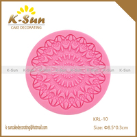 Wholesale Food grade non stick flexible heat resistant round silicone cake lace mat reposteria moldes