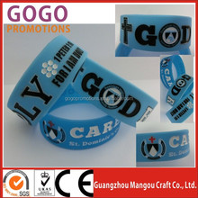 HOT sell Silicone bracelet/wristband/hand band in foreign, good quality and cheap price glow in the dark silicone bracelet