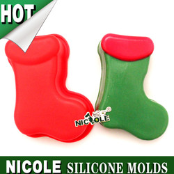 B0152 Nicole Christmas handmade cake decoration silicone cake molds factory