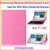 7 inch 8 inch 9 inch 10 inch Tablet PC Universal bluetooth keyboard leather case suit for Android Win IOS system bluetooth 3.0