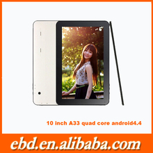 """Hot selling quad Core boxchip A33 10"""" android tablet with 1024*600 px"""