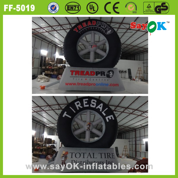 Sayok custom giant inflatable tire advertising/inflatable tire balloon