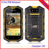 "2015 Hummer H5 3G Smartphone 4.0"" Capacitive Screen IP67 Waterproof Shockproof Dustproof 512M RAM 4G ROM Android 4.2"