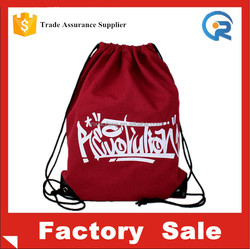 wholesale cotton fabric drawstring bag/canvas drawstring backpack bag/canvas drawstring bag
