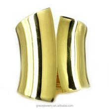 Fashionable Plain Metal Cuff Bangle Gold Filled Jewelry