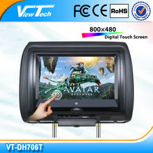 cheapest samllest 7 inch headrest pillow touch screen car monitor