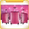 Super quality small size strong handle ABS waterproof side luggage travel trolley bag