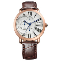 Antique Design Roman Watch Six Arrow Works Special Men Watch Casual Genuine Men Leather Sport Watch