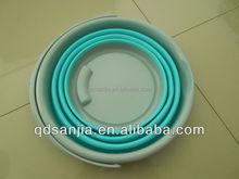 High Quality Oval Folding Pail Plastic Foldable Bucket Folding Barrel