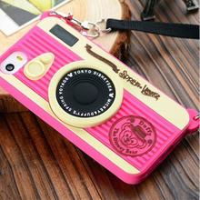 siliocne phone case for iphone 6/6+ Retro Camera Silicone/Gel/Rubber Phone Case Cover for iPhone 5