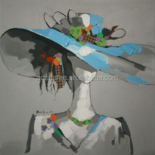 Modern beautiful lady oil painting for decor