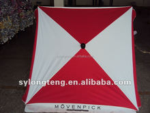 Wind resist 4K Ribs for supermarket promotional activities outdoor square umbrella