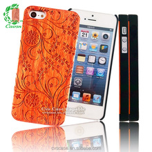 Laser Engraving Plastic Coated Genuine Rose Wood Anti Gravity Phone Case for iphone 6 Phone Case
