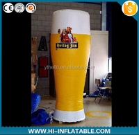 promotional advertising inflatable cup decoration/beer cup/model/replica/custom/character/figure/yellow/ for advertising