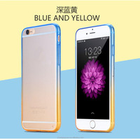 Cheap Gradient Color Bicolor PC+TPU Transparent Hard Cover Case For iphone 5 5s