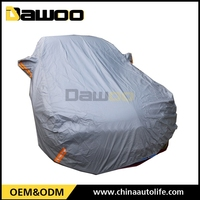 Factory OEM high quality folding silver PEVA car cover sun protection