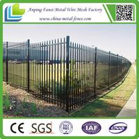 alibaba china black powder coating tubular spear top gal steel fence