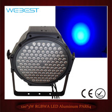 Stage Lighting 120x3W Aluminum Body RGBWA Led Par 64 64 long can
