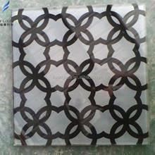 Decorative silk-screen printing glass art Supplier